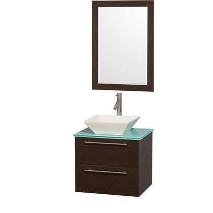 "Wyndham Collection WCR410024 Amare 24"" Single Sink Bathroom Vanity with X Top and X Basin in"