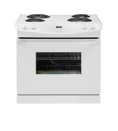 "Frigidaire FFED3005LW Electric Coil 4 No None 30""No Slide-In Range 