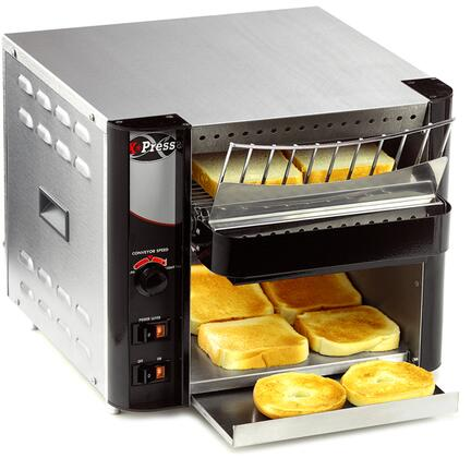 Picture of AT EXPRESS 15 Radiant Conveyor Toaster Generates 300 Slices per Hour  Cool Touch Exterior and Warming Area  in Stainless Steel