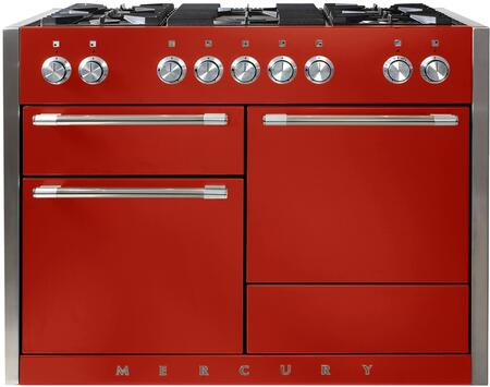 "AGA AMC48DFSCR 48"" Mercury Series Dual Fuel Freestanding Range with Sealed Burner Cooktop, Storage"
