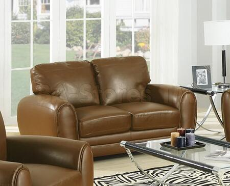 Acme Furniture 15241 Amber Series Bonded Leather Stationary with Wood Frame Loveseat