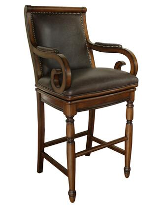 American Heritage 130889CANY Braxton Series Residential Leather Upholstered Bar Stool