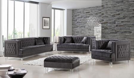 Meridian 6094PCSTLARMSTKIT2 Lucas Living Room Sets