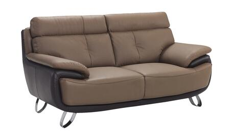 Global Furniture USA A159L Leather  with Metal Frame Loveseat