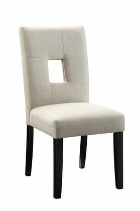 """Coaster Andenne 24"""" Side Chairs with Square Cutout Back, Cushioned Seating, Asian Hardwood Materials and Fabric Upholstery in"""