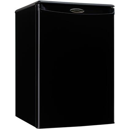 "Danby DAR026A1 18"" Compact Refrigerator with 2.6 cu. ft. Capacity, Energy Star, Automatic Defrost, Mechanical Thermostat, Reversible Door Hinge and Smooth Back Design"