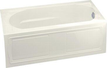 "Kohler K-1184 Devonshire Collection 60"" Three Wall Alcove Soaking Bath Tub with Right Hand Drain In Biscuit Finish"