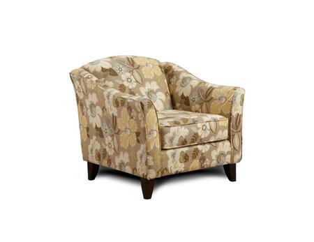 Chelsea Home Furniture FS452CDF Verona VI Series Armchair Fabric Wood Frame Accent Chair