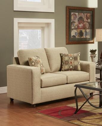 Chelsea Home Furniture 193602VB Talbot Series Fabric Stationary with Wood Frame Loveseat