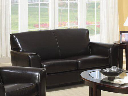 Coaster 504012 Bonded Leather Stationary with Wood Frame Loveseat