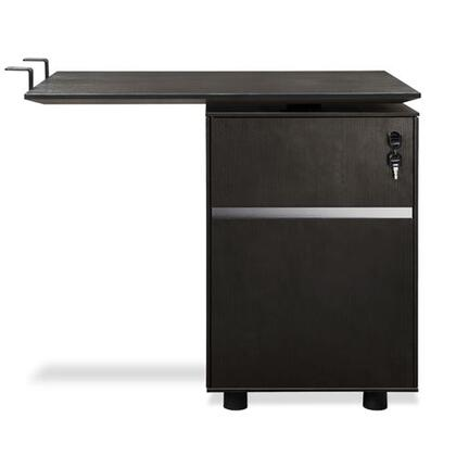 "Unique Furniture 300 Collection 32"" Return Desk with 1 File Drawer, 1 Utility Drawer, Adjustable Height, Non Scratch Surface and High Pressure Melamine Material in"