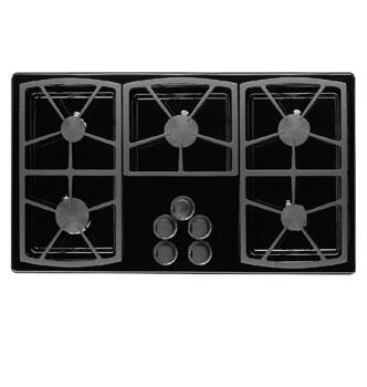 Dacor SGM365B Classic Series Natural Gas Sealed Burner Style Cooktop with 5 Burners  |Appliances Connection
