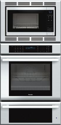 "Thermador MEDMCW31J 30"" Star-K Certified Masterpiece Series Triple Combination Built-In Oven With 1.5 cu. ft. Microwave Capacity, 4.7 cu. ft. Oven Capacity, 2.6 cu. ft. Warming Drawer Capacity, Self-Clean Oven Mode, And Super Fast Preheat: Stainless Steel"