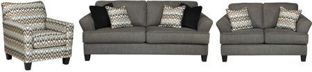 Milo Italia MI8857SLACSTEE Xzavier Living Room Sets