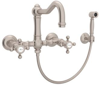 Rohl Italian Country Kitchen Satin Nickel