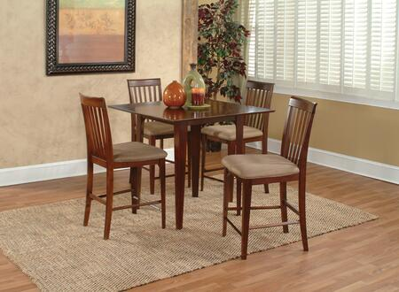 """Atlantic Furniture MONTREAL5454BTPT Montreal Collection 54x54 Butterfly Top Pub Height Dining Table (Includes 18"""" Leaf):"""