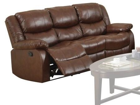 Acme Furniture 50S Fullerton Motion Sofa with Recliner Mechanism, Plush Padding and Bonded Leather Upholstery in