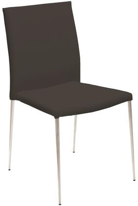 Casabianca TC181G Aldo Series Modern Faux Leather Metal Frame Dining Room Chair