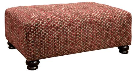 "Jackson Furniture Southport Collection 4367-28- 50"" Cocktail Ottoman with Fabric Upholstery, Turned Legs and Tufted Top in"