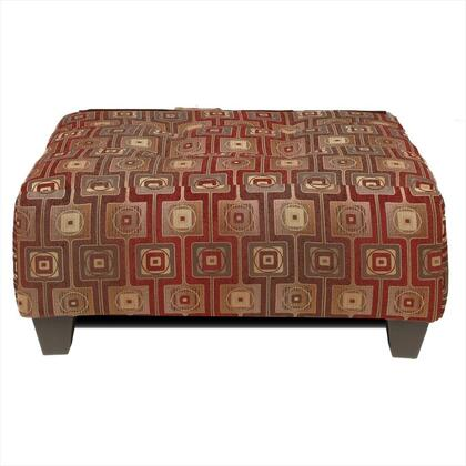 Chelsea Home Furniture 100 Suzzy Ottoman with No Sag Steel Springs, Zippered Cushions, Sewn Pillow Cushions, Hardwood and Engineered Wood Products in