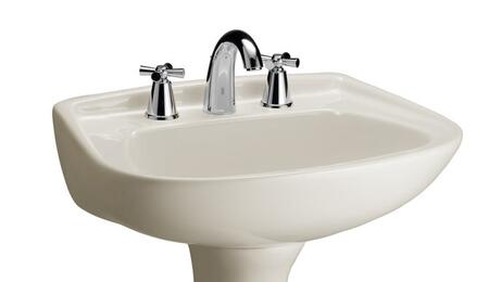 "Barclay B/3-31 Hartford Basin Only, with Pre-drilled Faucet Holes, Overflow, 6.25"" Basin Depth, and Vitreous China Construction"