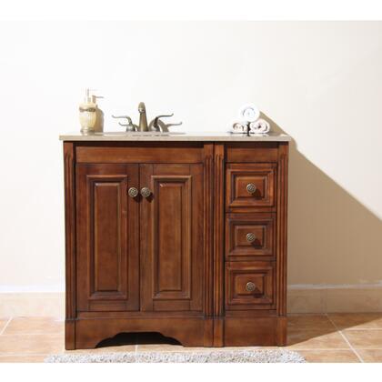 Legion Furniture WLF5048-LW-XX-CABINETONLY Light Walnut Vanity W/Soft Close Doors - No Faucet