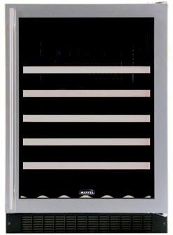 """Marvel 61WCMBDL 23.875"""" Built In Wine Cooler, in Stainless Steel"""