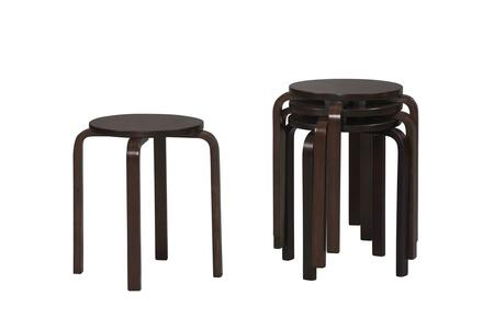 Linon 1771WENG04ASU Bentwood Series Commercial or Residential Bar Stool