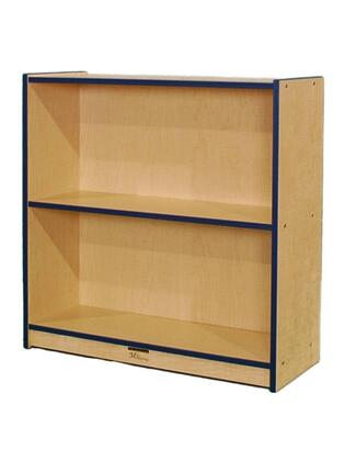 "Mahar M36SCASE 36"" Single Sided Book Case in Maple Finish with Edge Color"
