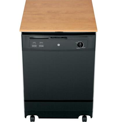 """GE GSC3500DBB 24"""" Portable Full Console Dishwasher"""
