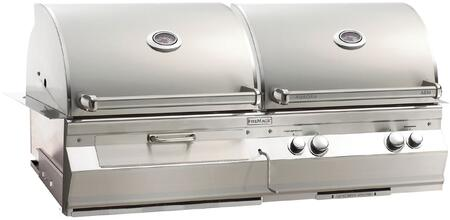 """FireMagic A830I6AAXCB Aurora 55"""" Built-In Combo Grill with All Infrared Burners, Charcoal Ignitor, and Analog Thermometer, Up to 76000 BTUs"""
