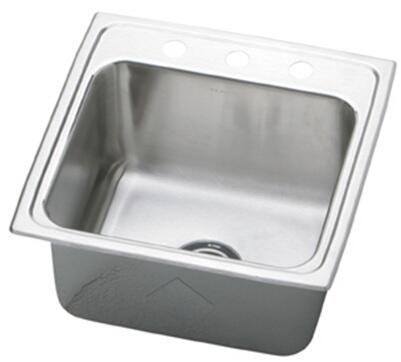 "Elkay DLR191910 Gourmet Lustertone Stainless Steel 19-1/2"" x 19"" Single Basin Kitchen Sink:"