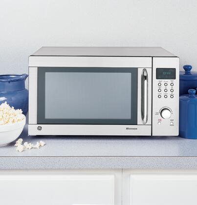 Ge Jes1344sk Countertop Microwave In Stainless Steel Zoom 1 2 3 4