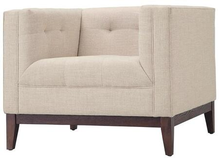 EdgeMod EM224WALBEI Huntington Series Fabric Lounge with Wood Frame in Beige