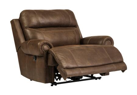 Milo Italia Zachery MI-8244CTMP Zero Wall Recliner with Plush Rolled Arms, Thick Divided Back Cushion and Nail-Head Accents in
