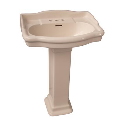 Barclay 385 Stanford Collection Vitreous China 600 Pedestal Lavatory with Overflow Drain: