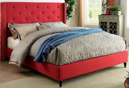 Furniture of America CM7677RDCKBED Anabelle Series  California King Size Platform Bed