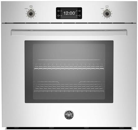 """Bertazzoni PROFS30Xx 30"""" Professional Series 4.1 cu. ft. Total Capacity Electric Single Wall Oven with Top Broiler, 2 Oven Racks, Convection, Sabbath Mode, in Stainless Steel"""