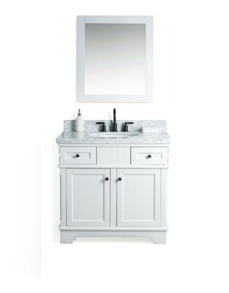 "Legion Furniture WS2036 36"" Solid Wood Sink Vanity With Mirror And Faucet"