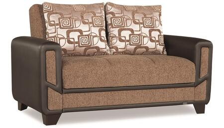 """Casamode Mondo Modern Collection MONDO MODERN LOVE SEAT 67"""" Convertible Love Seat with Chenille Fabric Upholstery, Track Arms and Under Seat Storage in"""