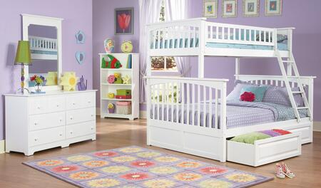 Atlantic Furniture COLTFWH  Twin Size Bed