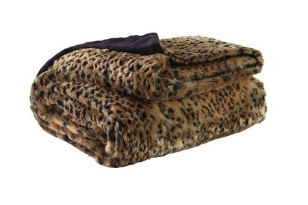 Milo Italia Desirae T1392211PTM Decorative Throw, Faux Fur Fabric, Blend of Polyester and Acrylic and Dry Clean Only
