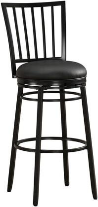 American Heritage 11111X Easton Series Stool with Metallic Frame and Vinyl Upholstery in Black