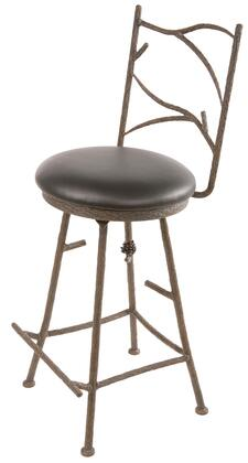 Stone County Ironworks 904123WOODOAK Pine Series  Bar Stool
