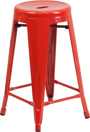 Flash Furniture CH3135024REDGG Residential Not Upholstered Bar Stool