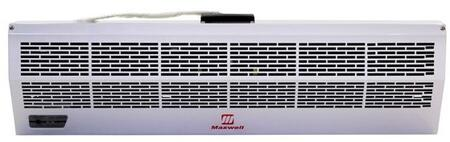 "Maxwell Hot Storm MAFH0XXE2 xx"" Commercial Industrial Air Curtain with Electric Heater, Infrared Remote Control, Temperature control, Improves Air Circulation, and Eco-friendly in White"