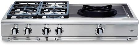 """Capital GRT484WN 48"""" PRECISION Series Natural Gas Sealed Burner Style Cooktop"""