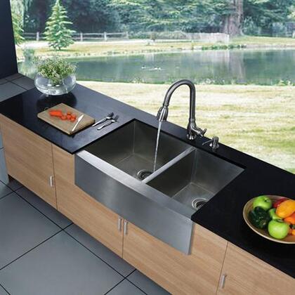Vigo VG3320BL Stainless Steel Kitchen Sink