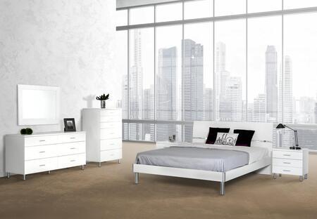 VIG Furniture VGDEB1003WHTQDMCN Modrest Bravo Queen Bedroom