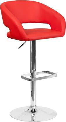 Flash Furniture CH122070REDGG Residential Vinyl Upholstered Bar Stool